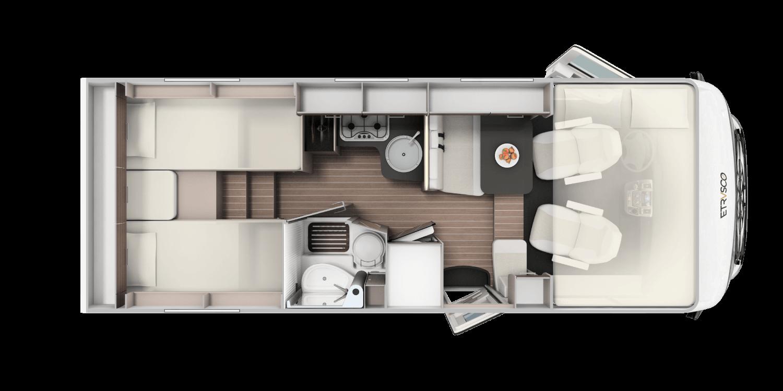 I 6900 SB         (Modelljahr 2020) Grundriss
